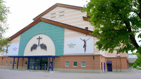 Famous Passion Play Theater in Oberammergau Germany - OBERAMMERGAU, GERMANY - Live Action