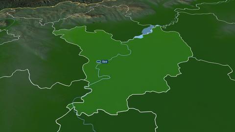 Jász-Nagykun-Szolnok - county of Hungary. Physical Animation
