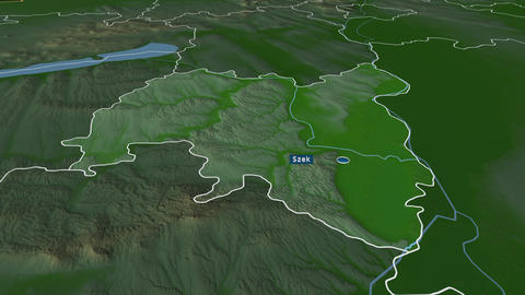 Tolna - county of Hungary. Physical Animation