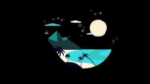 Summer Badge 4K Animation