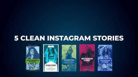 5 Clean Instagram Stories Apple Motion Template