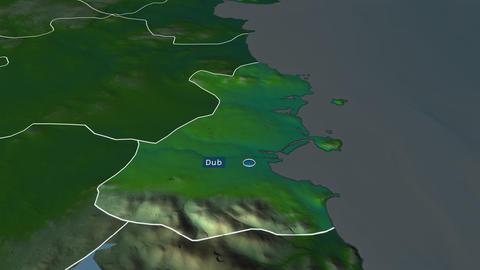 Dublin - county of Ireland. Physical Animation