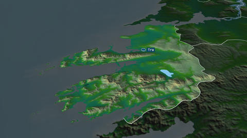 Kerry - county of Ireland. Physical Animation