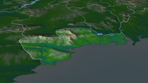 Waterford - county of Ireland. Physical Animation