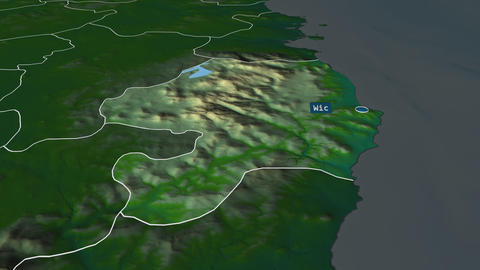 Wicklow - county of Ireland. Physical Animation