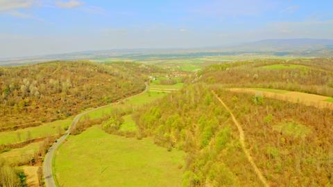 aerial view on rural landscape ライブ動画