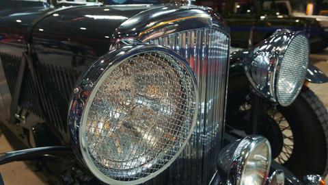 Black retro car front lights Live Action