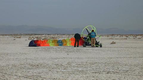 power parachute pre flight P HD 5290 Footage