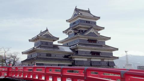 Castle nagano matsumoto matsumotojyou V1-0151 Footage