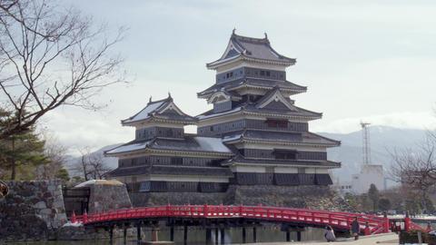 Castle nagano matsumoto matsumotojyou V1-0159 Footage