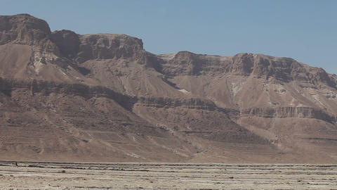 Panorama of the mountains near the Dead Sea. Israel Footage
