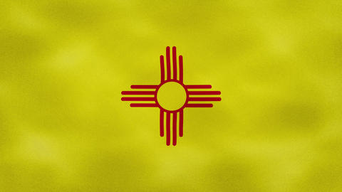 New Mexico dense flag fabric wavers, background loop Animation