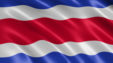 Thailand flag waving in the wind Animation