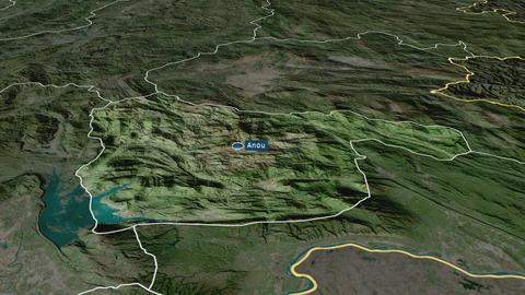 Xaisômboun - special region of Laos. Satellite Animation