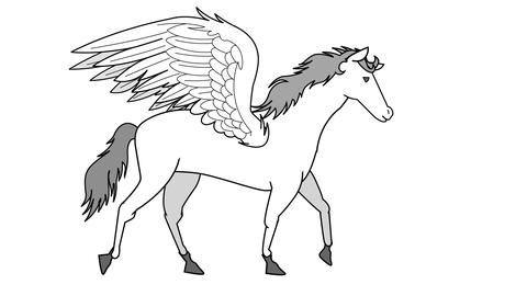 Pegasus walking Animation