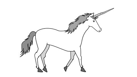 Unicorn walking Animation