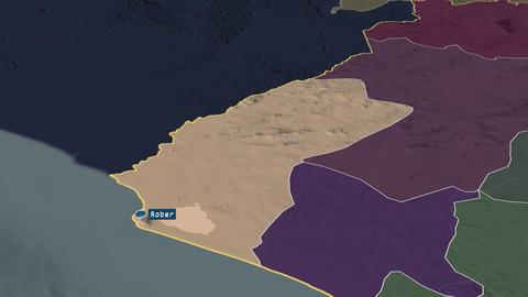 Grand Cape Mount - county of Liberia. Administrative Animation