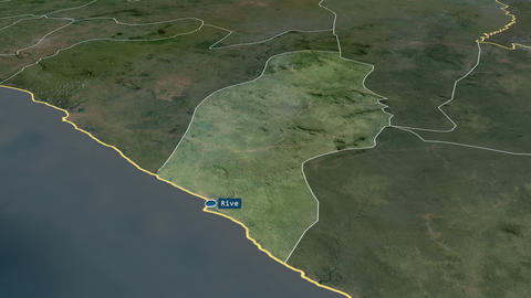 River Cess - county of Liberia. Satellite Animation