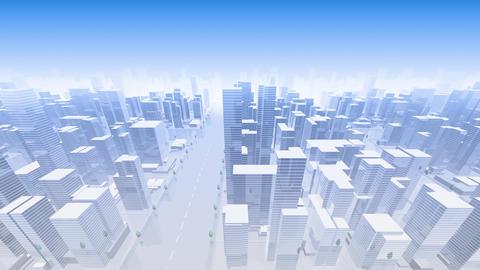 City Building Simple Modern Skyscraper business street background D2 sky 4k Animation