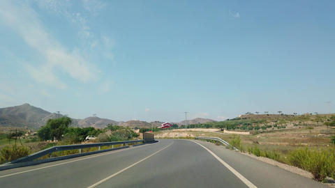 The view from the window of a car that rides on a beautiful road ライブ動画