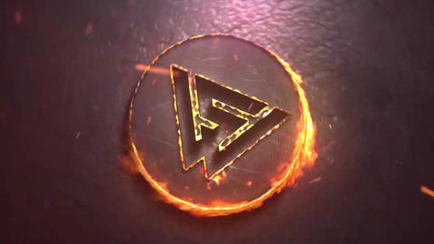 Hot Epic Flames Logo Intro After Effects Template