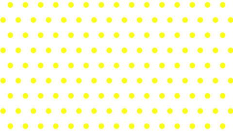 [背景]水玉模様 モーション 黄色 CG動画