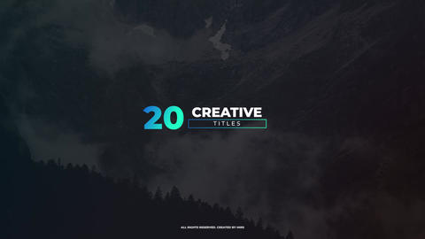 Creative Titles Apple Motion Template