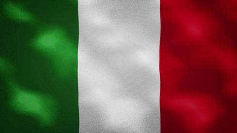 Italian dense flag fabric wavers, background loop Animation