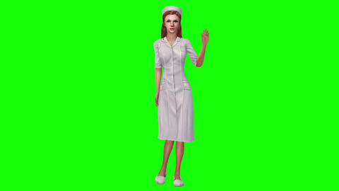 730 4k 3d animated avatar nurse explain about medicine subjects Animation