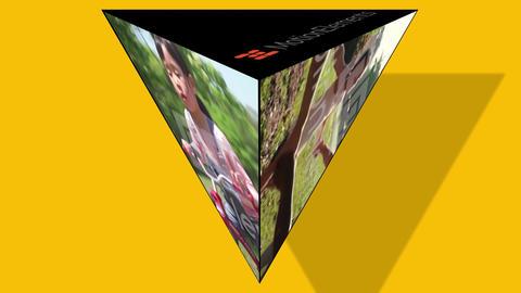 【三角錐状画面】シンプル演出効果 After Effectsテンプレート