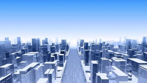 City Building Simple Modern Skyscraper business street background F4 sky 4k Animation