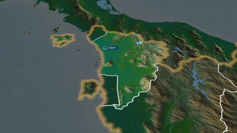 Kedah - state of Malaysia. Physical Animation