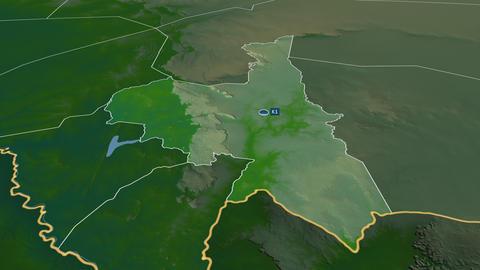 Assaba - region of Mauritania. Physical Animation