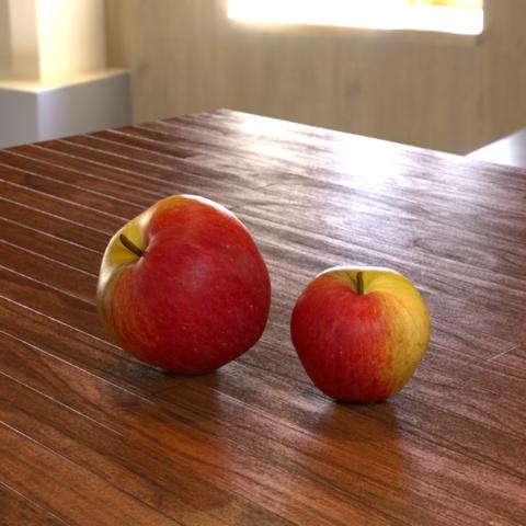 リンゴ 3Dモデル