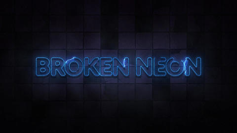 Broken Neon Sign Titles Motion Graphics Template