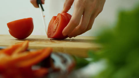 Healthy tomato food concept Live Action