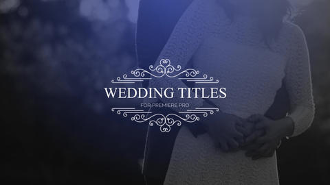 Wedding Titles Premiere Pro Template