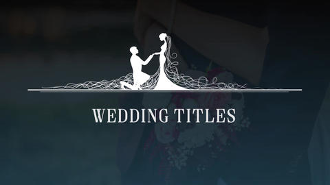 Wedding Titles 03 Premiere Pro Template