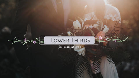Wedding Lower Thirds Apple Motion Template