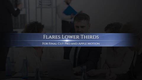 Lower Thirds Flares Apple Motion Template