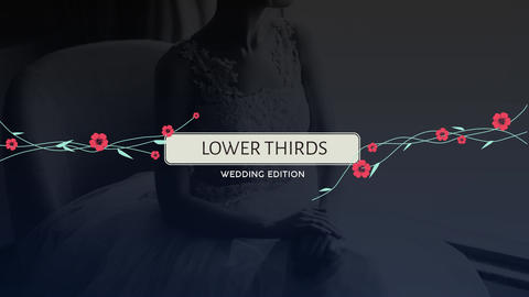Wedding Lower Thirds Premiere Pro Template