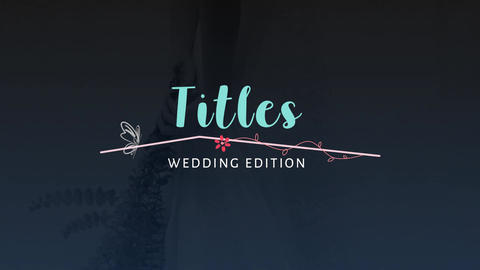 Wedding Flowers Titles Premiere Pro Template