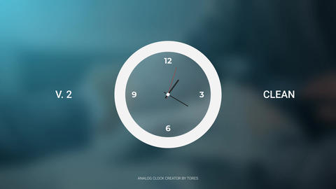 Analog Clock Creator After Effects Template