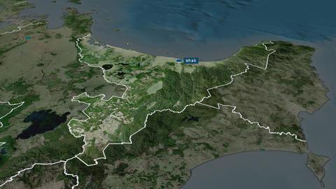Bay of Plenty - regional council of New-Zealand. Satellite Animation