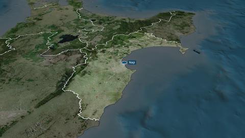 Hawke's Bay - regional council of New-Zealand. Satellite Animation