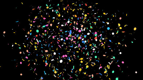 Celebrations Confetti with Alpha Matte Channel Animation