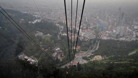 Cable Car Ride in Bogota Footage