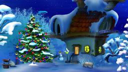 Magic Christmas Night. New Year Scene Animation