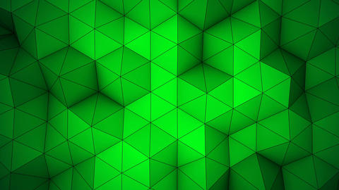 Green triangle polygons background loopable Animation