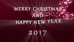 Merry Christmas and Happy New Year 2017 Animation